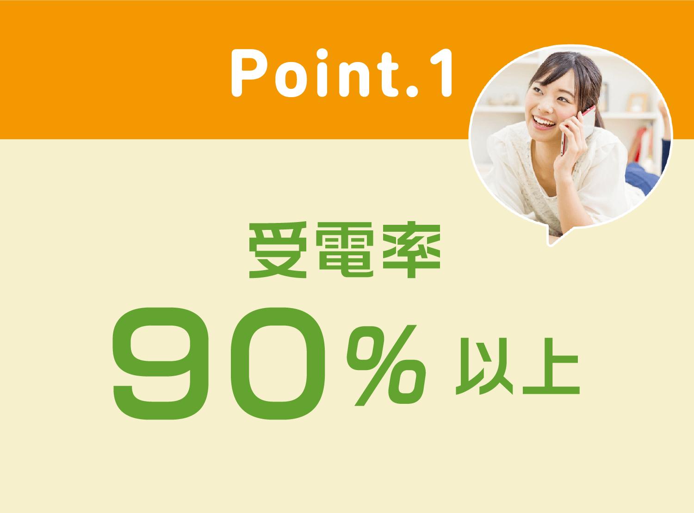 point1 受電率90%以上